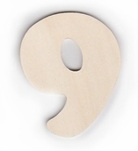 Wood Numbers 9 - 3 inch