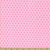 Woodland Tails Flannel Fabric - Dots - Pink