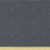 Woolies Cotton Flannel Fabric - Gray Herringbone F1841-N2
