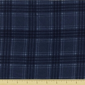 Woolies Flannel Fabric - Blue Large Plaid F18142-N