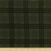 Woolies Flannel Fabric - Green Large Plaid F18142-G3