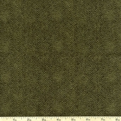Woolies Flannel Fabric Herringbone Stripe - Green