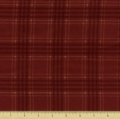 Woolies Flannel Fabric - Red Large Plaid F18142-R4