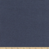 Woolies Small Houndstooth Flannel Fabric - Blue