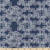 World Tour Cantebury Cotton Fabric - Water PWPG018-WATER