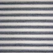 Woven Striped Ticking from James Thompson and Co. Inc. - Black/ Cream
