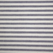 Woven Striped Ticking from James Thompson and Co. Inc. - Navy Blue and Cream