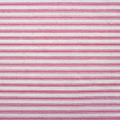 Woven Striped Ticking from James Thompson and Co. Inc. - Petal Pink/ Cream