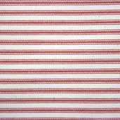 Woven Striped Ticking from James Thompson and Co. Inc. - Red / Cream