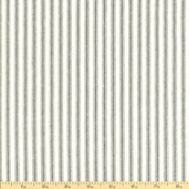 Woven Striped Ticking from James Thompson and Co. Inc. - Steel Grey