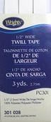 Wrights Twill Tape 1/2 inch Wide - Oyster