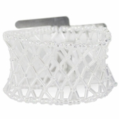 Wristlet Beaded Retro Iridenscent - Clear