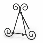 Wrought Iron Easel - 15 inch - Black