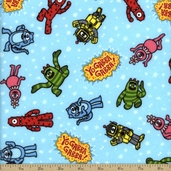 Yo Gabba Gabba! Cotton Fabric Flannel - Blue J4075F-78