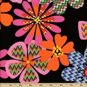 Ziggy Cat Cotton Fabric - Black 05828-12