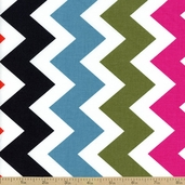 Ziggy Chevron Stripe Cotton Fabric