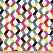 Ziggy Geometric Cotton Fabric