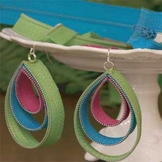 Zipper Earrings with Video