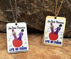Bowie/prince Life on Mars Necklace