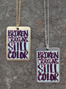 Broken Crayons Necklace