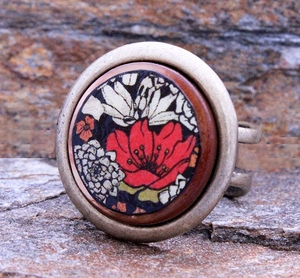 Coral Floral Ring