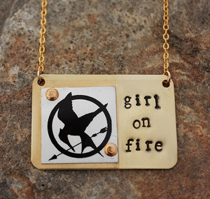 """""""Girl on Fire"""" Necklace"""