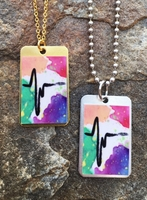 Pulse Dog Tag Necklace