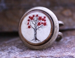 Red Flower Tree RIng