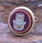 Teal and Purple Hamsa