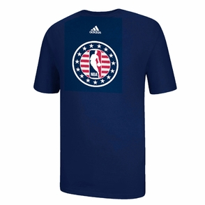 adidas NBA Logoman Veteran's Day Short Sleeve Tee - Navy - Click to enlarge