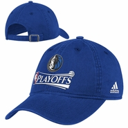 Dallas Mavericks 2014 Adidas Adjustable NBA Playoff Cap - Blue - Will Ship April 25th