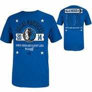 Dallas Mavericks 2014 Adidas Playoff Participant Roster Tee - Blue - Will Ship April 25th