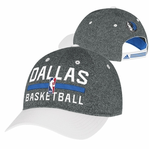 Dallas Mavericks adidas 2013-2014 Authentic Practice Slouch Cap - Charcoal - Click to enlarge