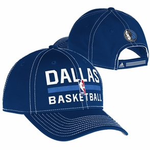 Dallas Mavericks adidas 2013-2014 Authentic Practice Structured Cap - Navy - Click to enlarge