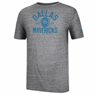Dallas Mavericks adidas Classic Era B-Ball Club Triblend Tee - Grey
