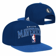 Dallas Mavericks adidas Flat Brim City Name Snapback Cap - Navy