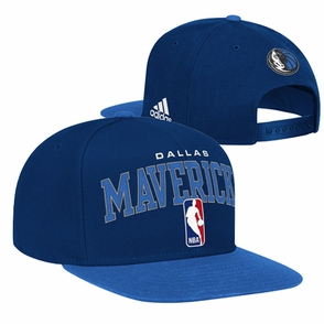 Dallas Mavericks adidas Flat Brim City Name Snapback Cap - Navy - Click to enlarge