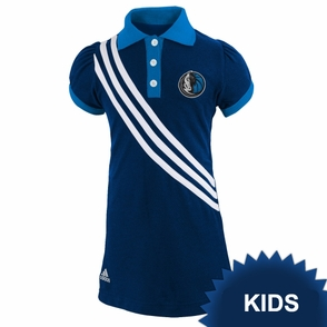 Dallas Mavericks adidas Kids Girls Polo Dress - Navy - Click to enlarge