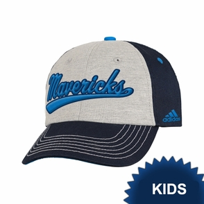Dallas Mavericks adidas Kids Structured Adjustable Cap - Navy/Grey - Click to enlarge