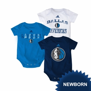 Dallas Mavericks adidas Newborn 3-Pack Creeper Set - Click to enlarge