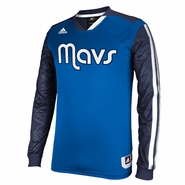 Dallas Mavericks adidas On-Court Long Sleeve Shooting Shirt - Blue