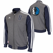 Dallas Mavericks adidas On-Court Second Half Jacket - Grey