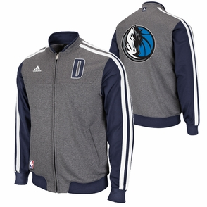 Dallas Mavericks adidas On-Court Second Half Jacket - Grey - Click to enlarge