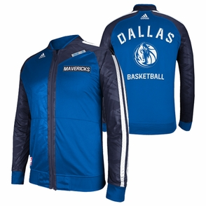 Dallas Mavericks adidas On-Court Warm Up Jacket - Blue - Click to enlarge