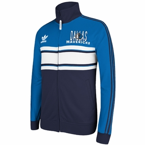 Dallas Mavericks adidas Originals Court Series Track Jacket - Blue/Navy/White - Click to enlarge