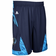 Dallas Mavericks adidas Pre-Game Short - Navy