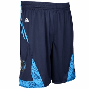 Dallas Mavericks adidas Pre-Game Short - Navy - Click to enlarge