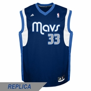 Dallas Mavericks adidas Revolution 30 Gal Mekel Replica Alternate Jersey - Navy