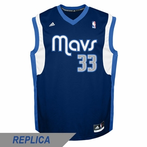 Dallas Mavericks adidas Revolution 30 Gal Mekel Replica Alternate Jersey - Navy - Click to enlarge