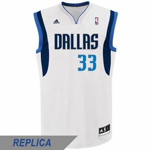 Dallas Mavericks adidas Revolution 30 Gal Mekel Replica Home Jersey - White - Click to enlarge